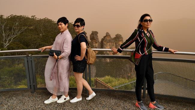 Local tourism operators say the Blue Mountains is back open for business in what is normally the busiest time of the year. Picture: AAP Image/Joel Carrett.