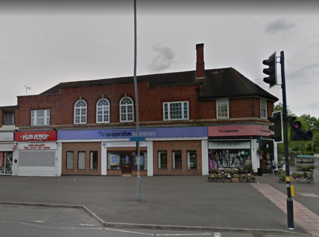 Central England Co-Operative undertakers in Walsall Road, Great Barr, Birmingham. Picture: Google Maps