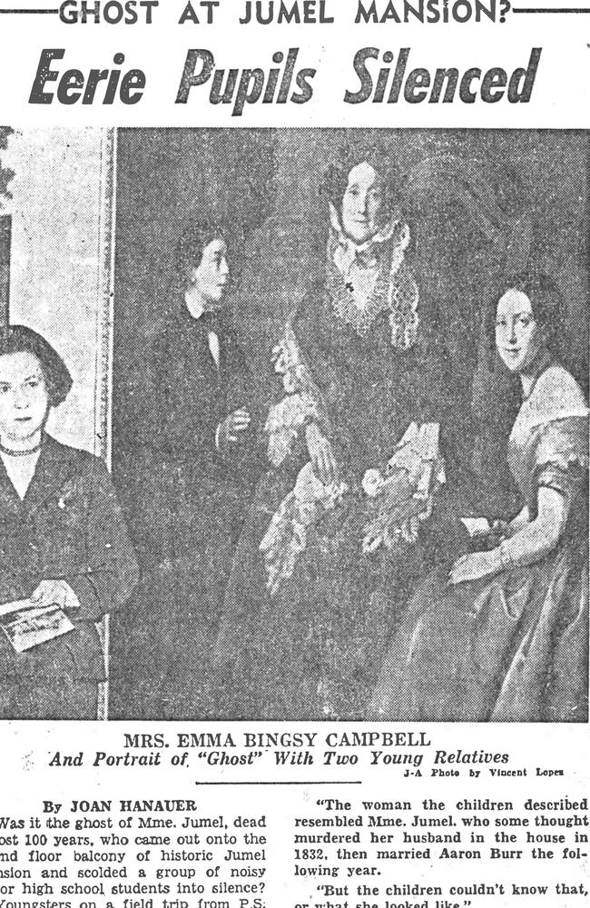 A newspaper clipping reported ghost sightings of Eliza Bowen.