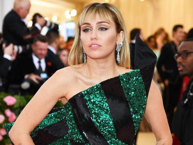 Miley Cyrus. Picture: Dimitrios Kambouris/Getty Images for The Met Museum/Vogue.