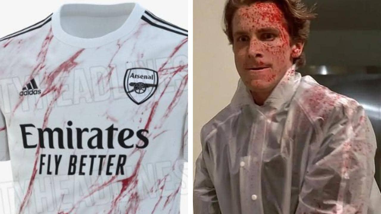 Epl Arsenal New Away Kit Reaction American Psycho Twitter Leaked Fox Sports