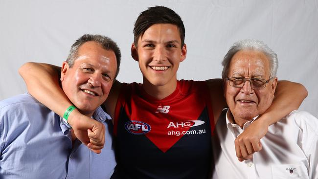 Sam Weideman with his father Mark and grandfather Murray. Photo Sarah Reed.
