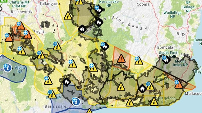 Victoria bushfires: Fires continue to burn in East Gippsland, alpine region