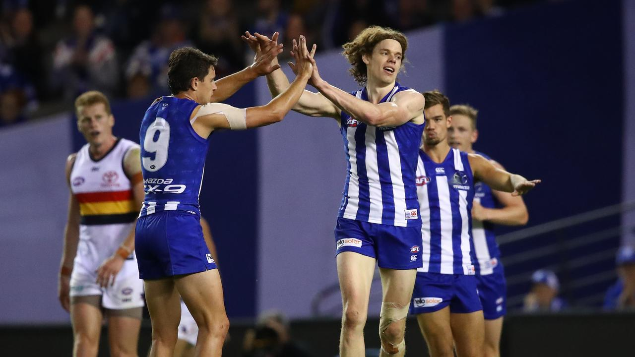 Ben Brown booted four goals for North Melbourne. Photo: Scott Barbour/Getty Images.