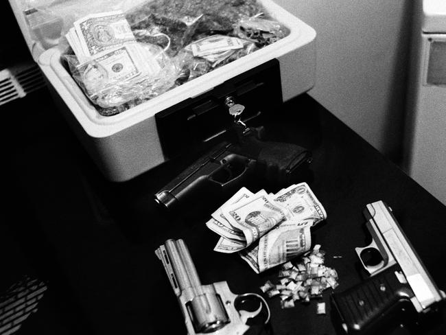 Trifecta — guns, money and drugs. Picture: Boogie/powerHouse Books