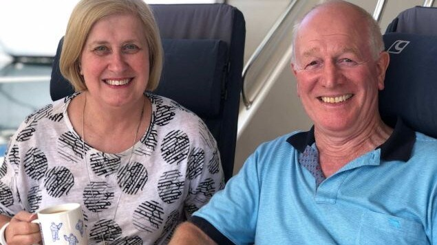 Julie Gledhill and husband Steve, who said despite the yachtie image he was not overly wealthy. Picture: ABC