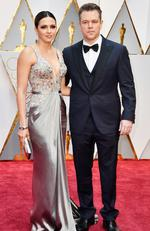 Matt Damon and wife Luciana Barroso attend the 89th Annual Academy Awards. Picture: Frazer Harrison/Getty Images