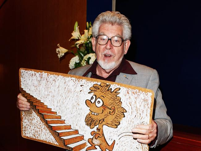 Famous for the wobbleboard ... Rolf Harris has been found guilty of indecently assaulting four girls. Picture: Gaye Gerard/Getty Images