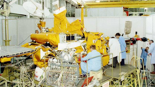 The failed Russian space probe being checked in October 1996. Picture: AP Photo