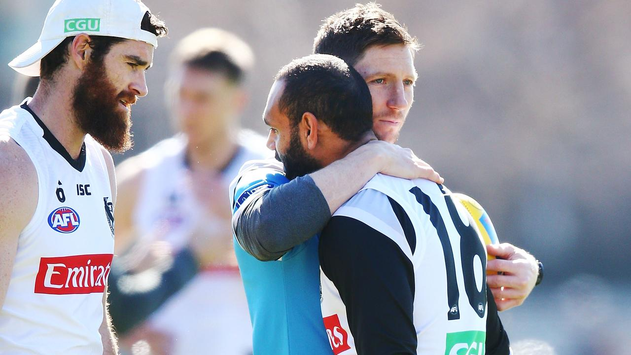 Travis Varcoe is expected to line up for Collingwood this weekend. Photo: Michael Dodge/Getty Images