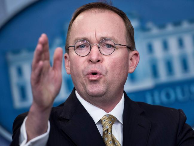 Acting White House chief of staff Mick Mulvaney says Democrats are deranged for believing that US President Donald Trump's tax returns will ever be released. Picture: AFP