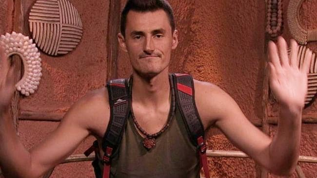 Tomic during his blink-and-you'll-miss-it I'm A Celeb stint. Picture: Channel 10