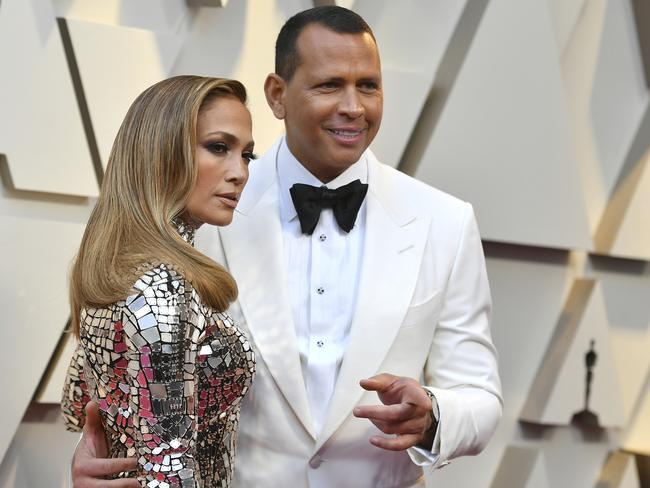Alex Rodriguez has been accused of sending a model X-rated texts just weeks before proposing to Jennifer Lopez. Picture: Jordan Strauss/Invision/AP, File