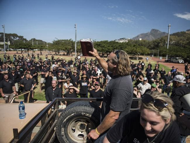 Heated protests in South Africa as farmers demand better safety and protection measures. AFP PHOTO / DAVID HARRISON