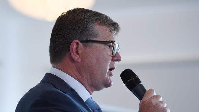 "Alex said Wentworth by-election candidate Tim Murray was ""an old friend"" of his and that the Labor party ""need more people like him"". Picture: Dean Lewins."