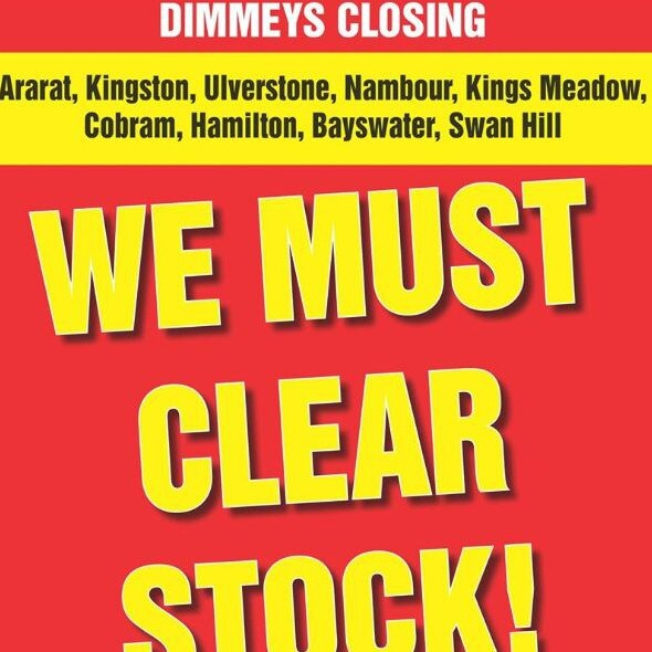 Dimmeys closing down sale is now on.