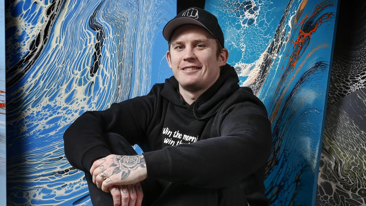 Dayne Beams is now a painter. Picture: David Caird
