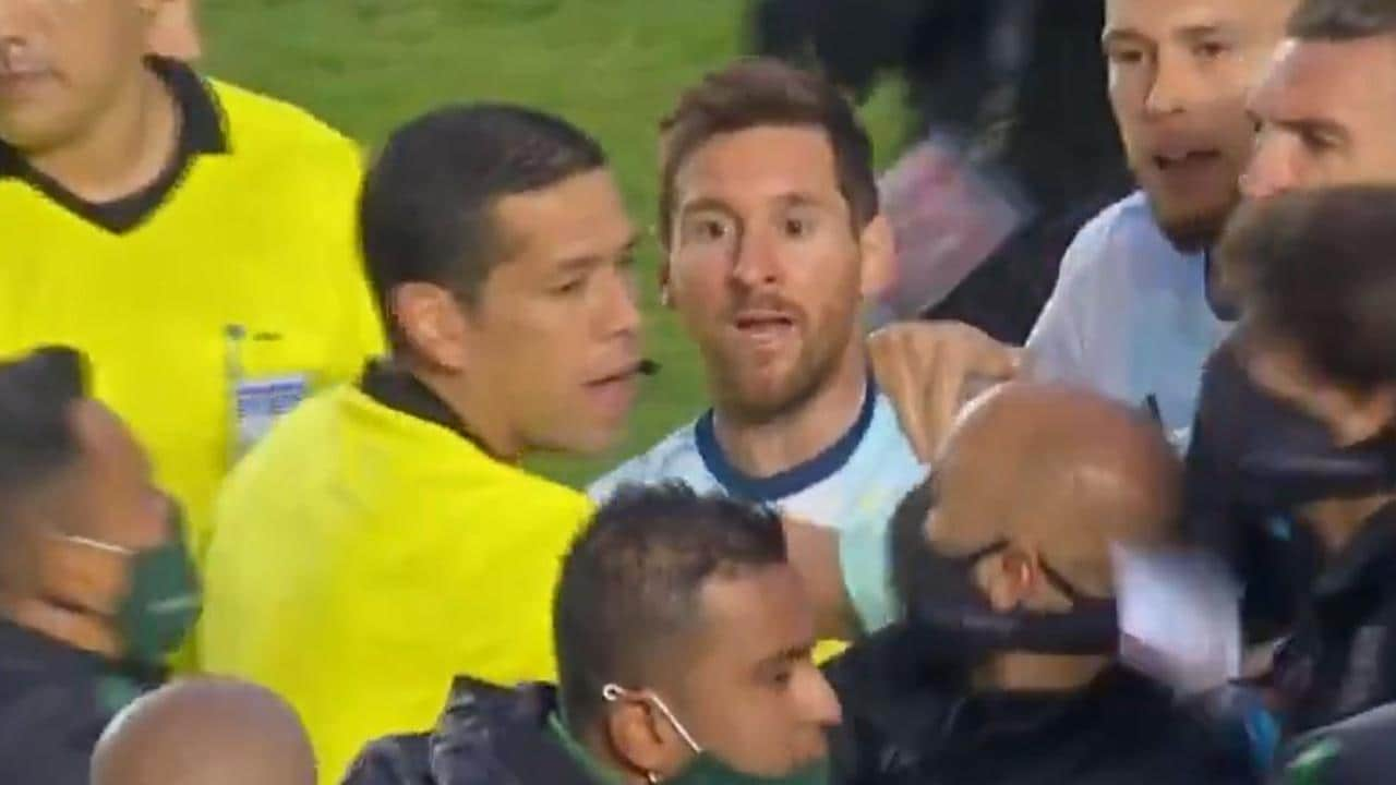 Lionel Messi was at the centre of a post-match scuffle on Wednesday.