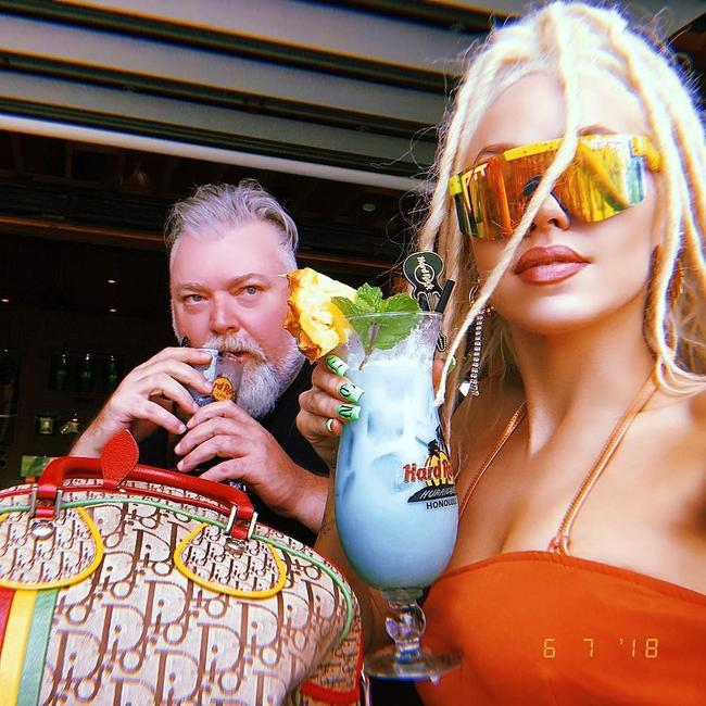 Kyle Sandilands and Imogen Anthony in Honolulu, Hawaii. Picture via Instagram