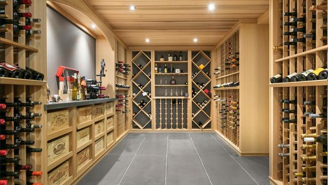 The residence also features a basement wine cellar.