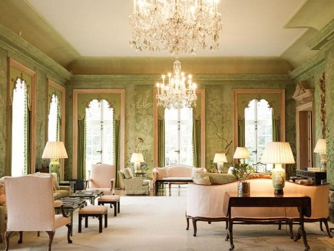 The lavish garden room of Winfield House, where Donald and Melania Trump will stay. Picture: US Embassy.
