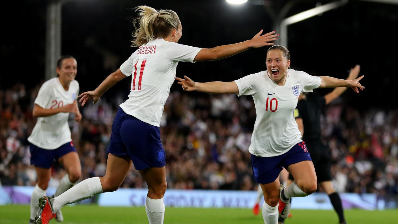 Fran Kirby's England are a contender. (Photo by Catherine Ivill/Getty Images)