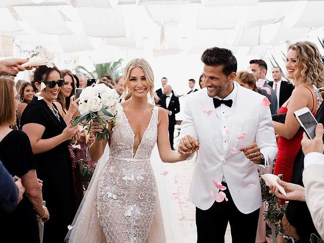 Anna Heinrich and Tim Robards wedding images from Tim's Instagram posts.