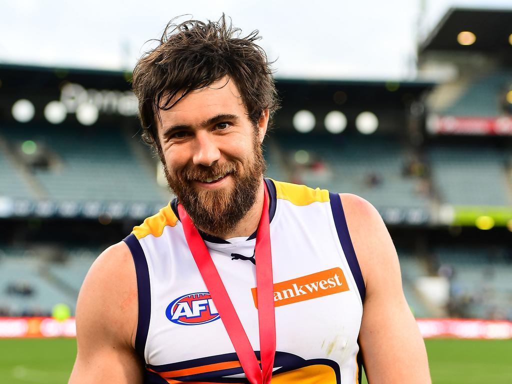 Josh Kennedy of the Eagles won a Ross Glendinning medal in 2016.