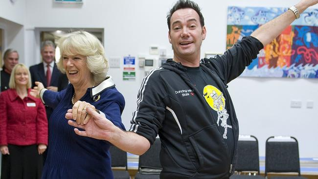 Camilla, Duchess of Cornwall, who is president of the National Osteoporosis Society, with Strictly Come Dancing judge Craig Revel Horwood in 2009.
