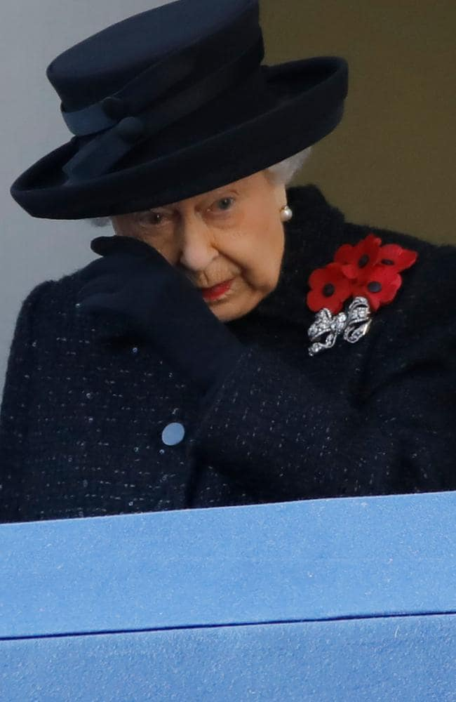 The Queen shed a tear earlier this month at Remembrance services. Picture: Tolga Akmen/AFP