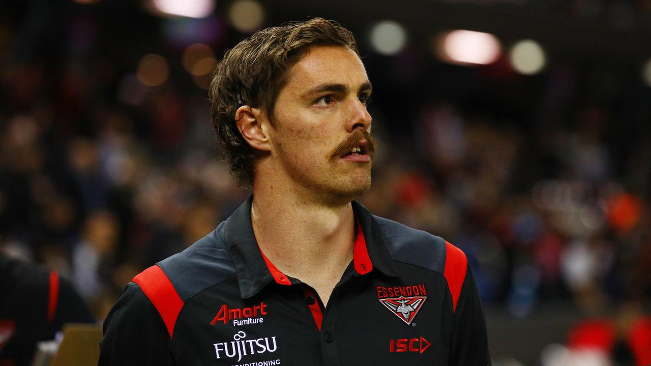 Joe Daniher will return to Ireland to check in with his doctor. Picture: Graham Denholm