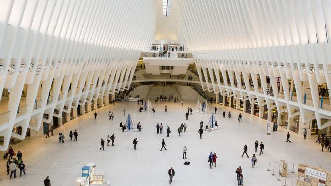 Inside New York's Westfield World Trade Centre. Picture: Brittany Petronella