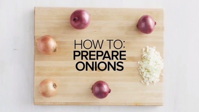 How to prepare onions