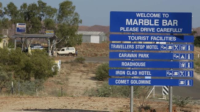 Marble Bar is a popular rest stop on the road to Broome. Picture: Tom Rovis-Hermann