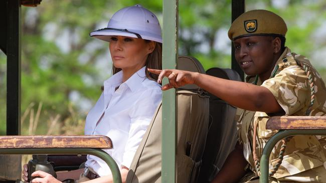 Melania's issues with Ms Ricardel go back to her Africa trip last month.