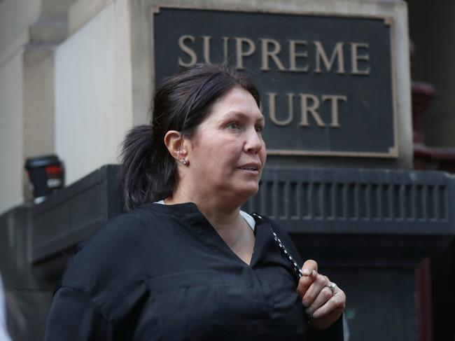 Roberta Williams says Informer 3838 encouraged her husband to leave the country. Picture: David Crosling/AAP