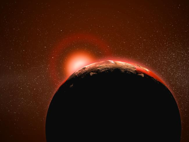 Red dwarf stars like TRAPPIST-1 are much smaller, and cooler, than our sun. But they also have a much longer life. Picture: Steve Grice