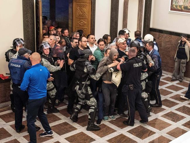 The mob was protesting against what they said was an unfair vote to elect a parliamentary speaker.