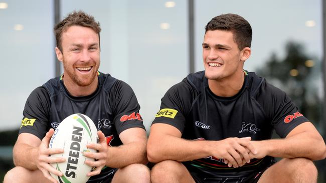 Penrith halves James Maloney and Nathan Cleary.