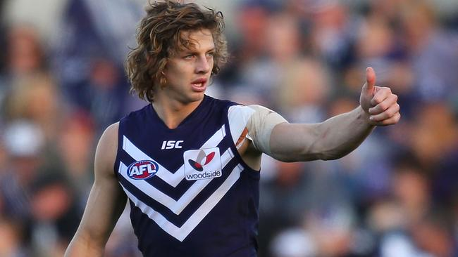 Nat Fyfe knows he had a good day out.