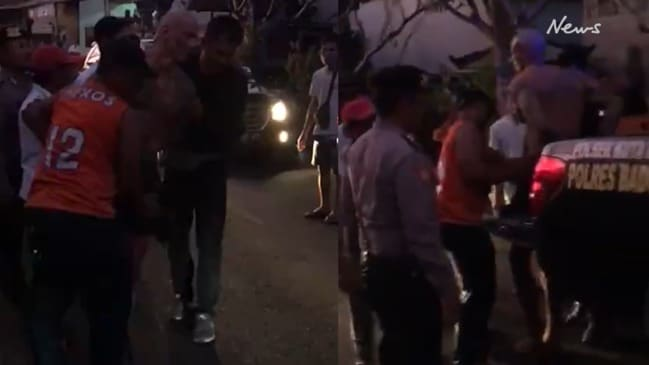 Dramatic moment Aussie man is arrested in Bali