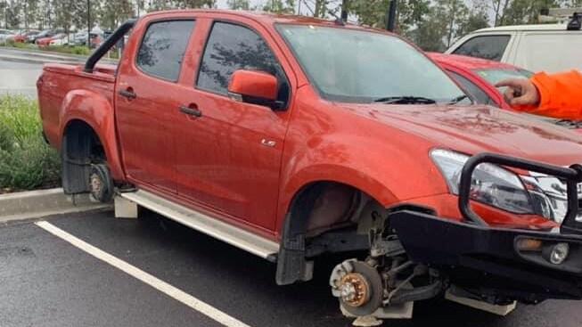 Sydney Metro northwest motorist's wheels stolen from car