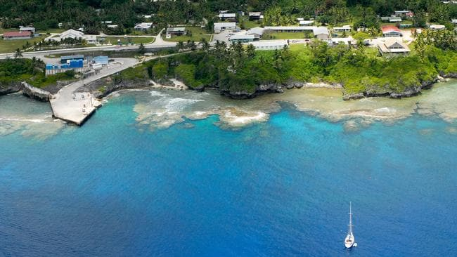 Aerial photo of Niue. Fun fact: The Niue yacht club has more members than the island has residents. Which is weird because no one in Niue owns a yacht and none of the directors of the club have ever been sailing.