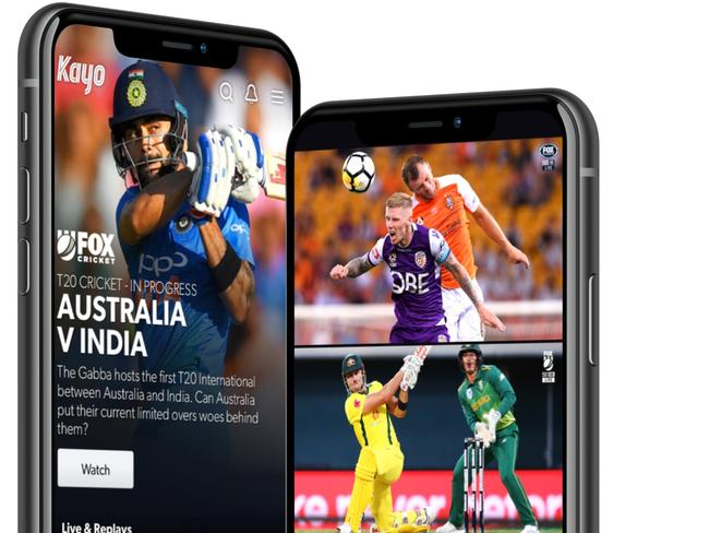 Kayo has been dubbed the 'Netflix of Sports'. Picture: Supplied/ Kayo