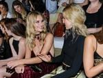 Rosie Huntington-Whitely and Annabelle Wallis appear at the Ralph Lauren September 2016 collection fashion show. Picture: AP
