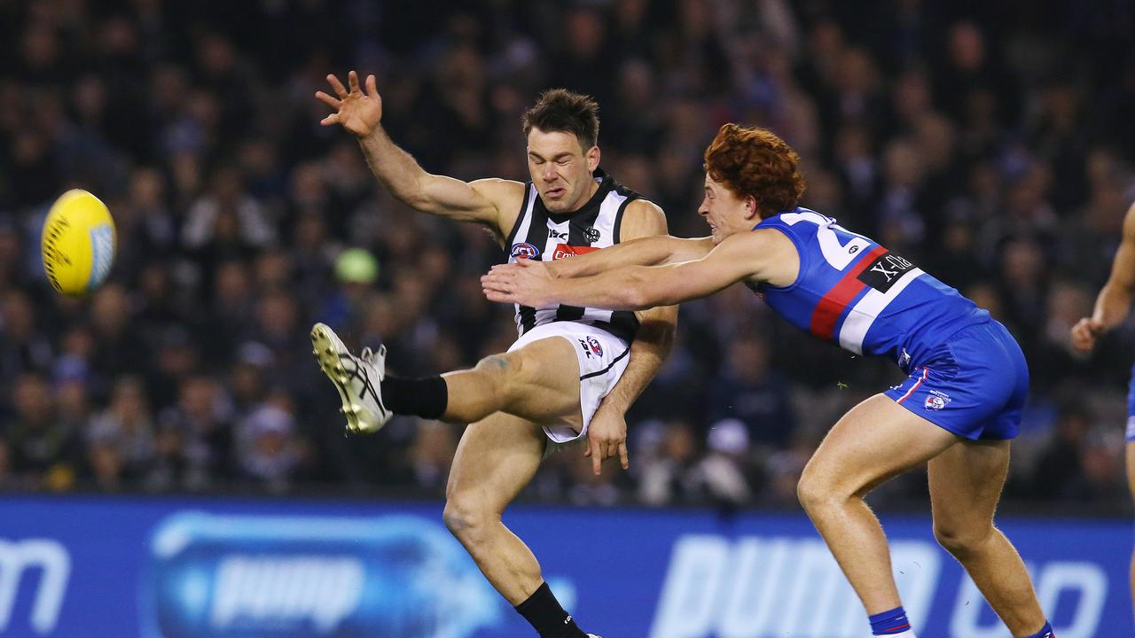 Chris Scott says kicking is much better than years ago. Picture: Michael Klein