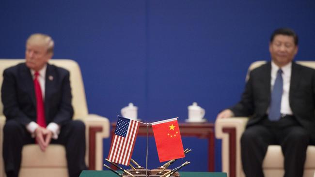The US and China are at loggerheads. Picture: AFP