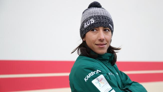 Kids News: Australian aerial skier Lydia Lassila flying