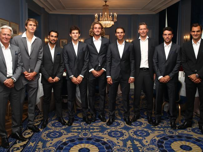 Team Europe. (Photo by Julian Finney/Getty Images for Laver Cup)
