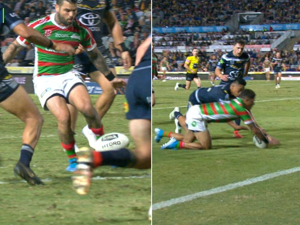Adam Reynolds produced a freak soccer style assist for Dane Gagai to score.